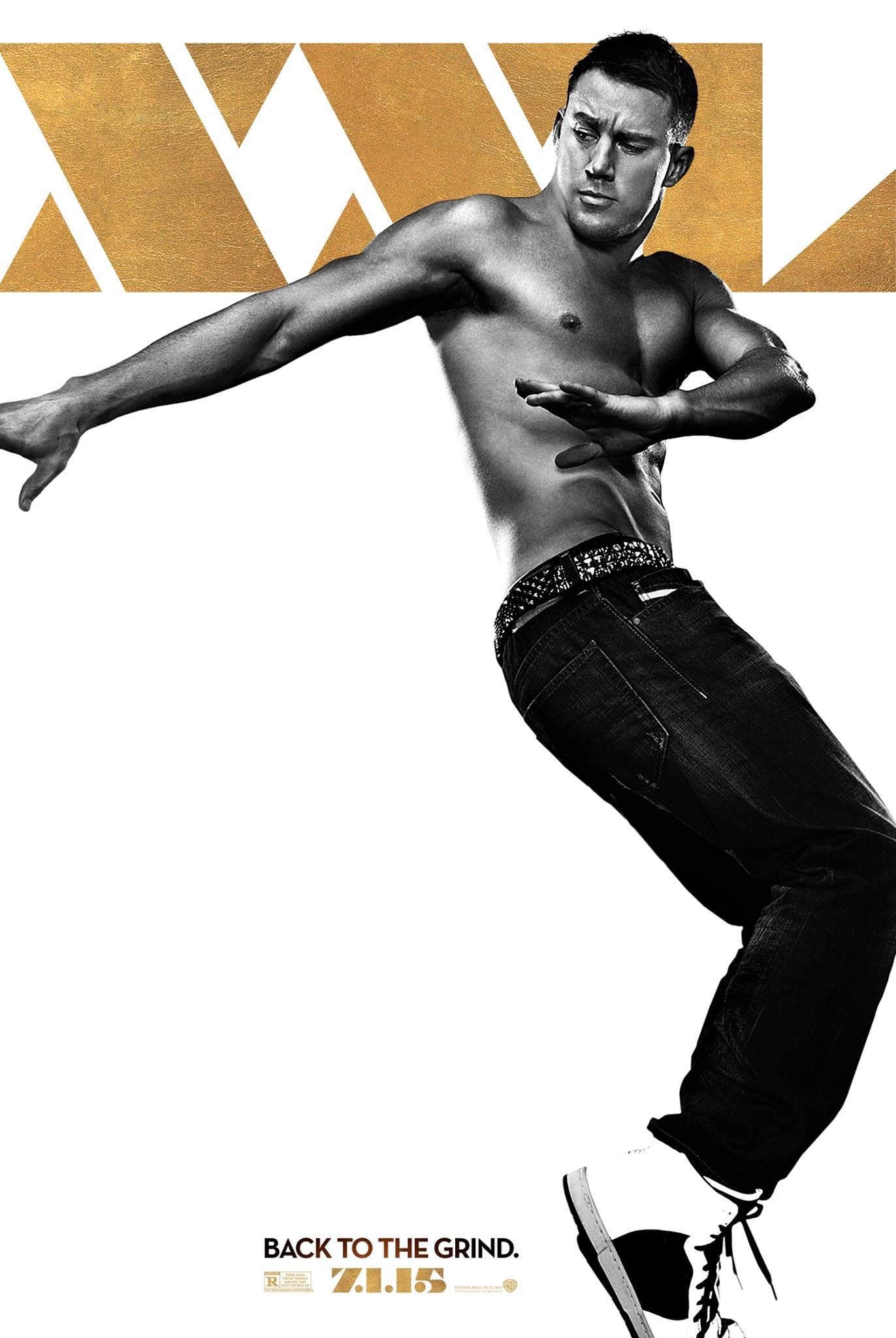 Magic Mike XXL poster with topless Channing Tatum dancing