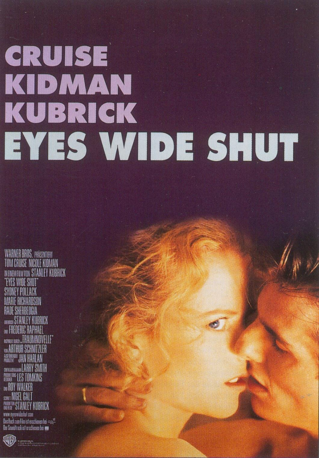 The poster showing Cruise and Kidman kissing but she is looking at that camera rather than her husband