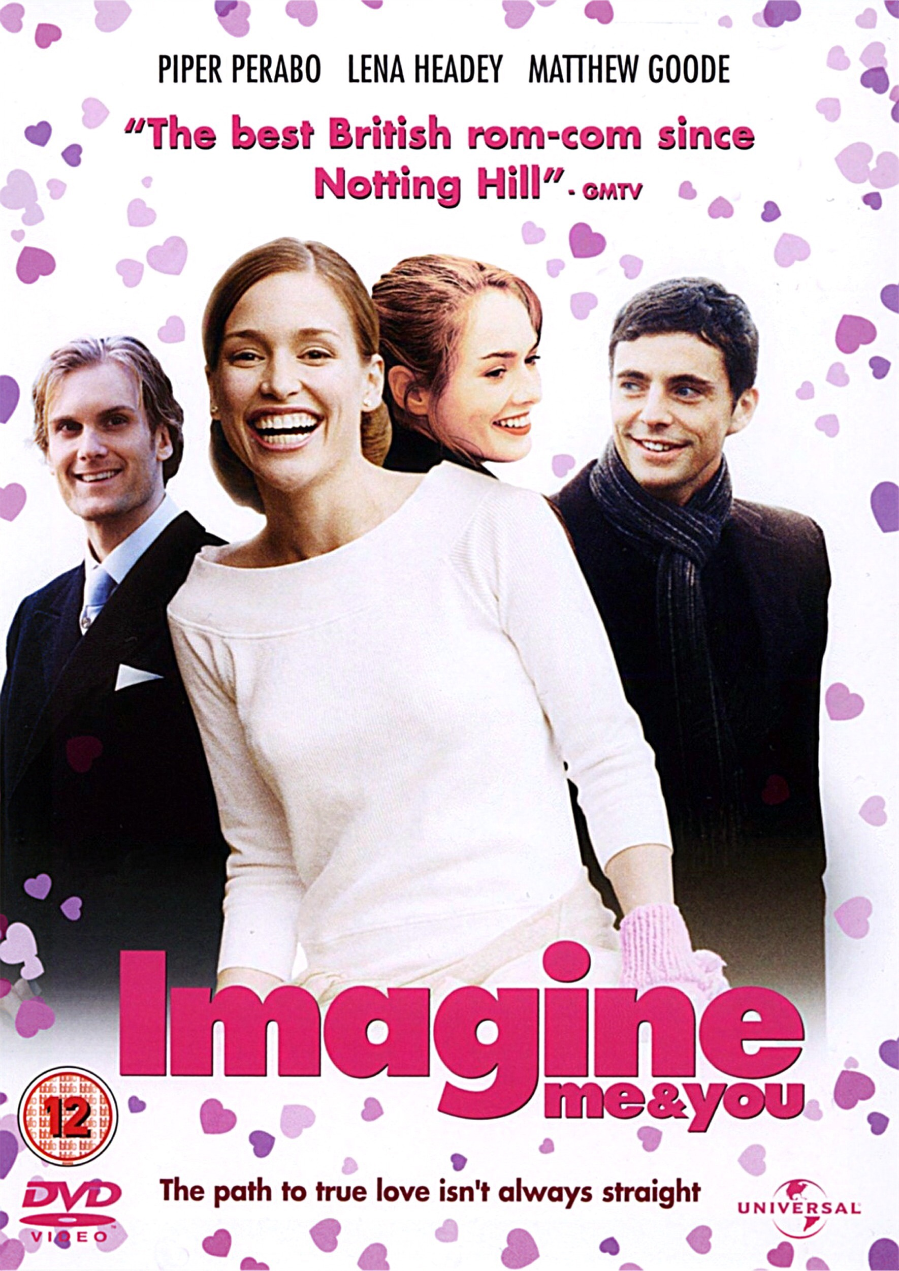 The Imagine Me and You poster, showing Rachel laughing with both Luce and Heck behind her