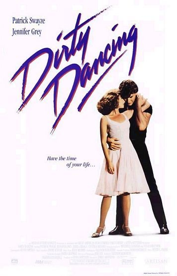 Dirty Dancing poster showing Swayze and Grey in the starting position for their dance
