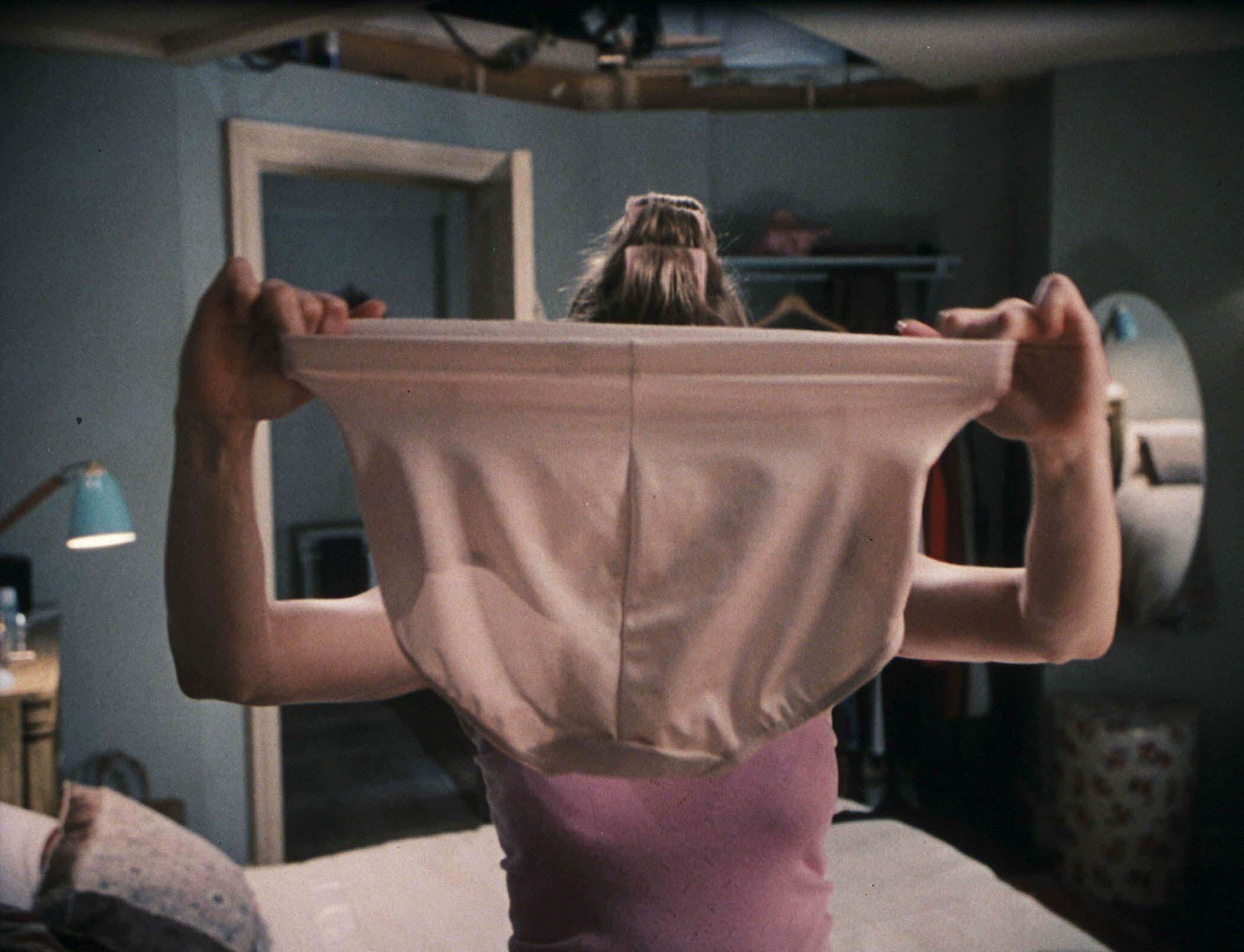 An image from Bridget Jones's Diary of her big pants