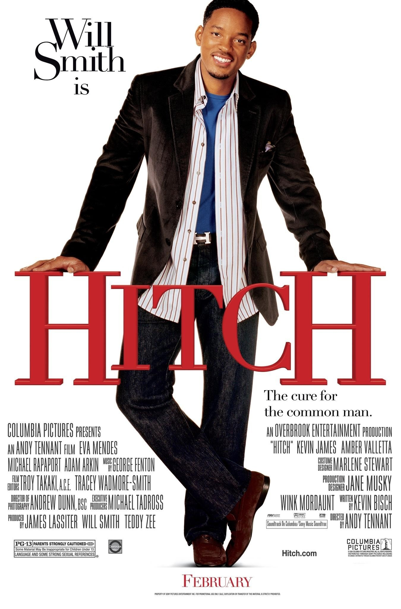 The Hitch poster showing Will Smith looking charming