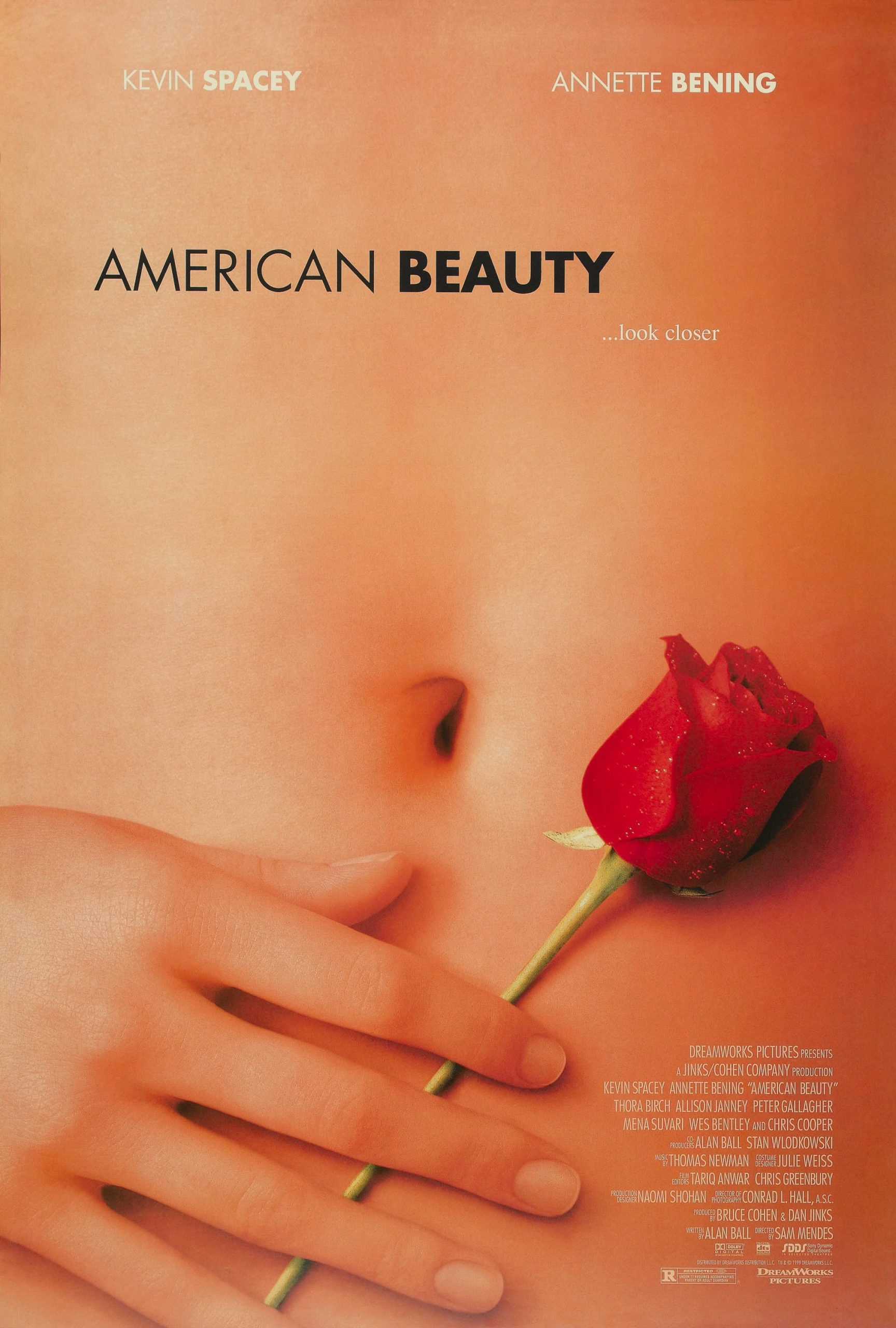 The poster for American Beauty