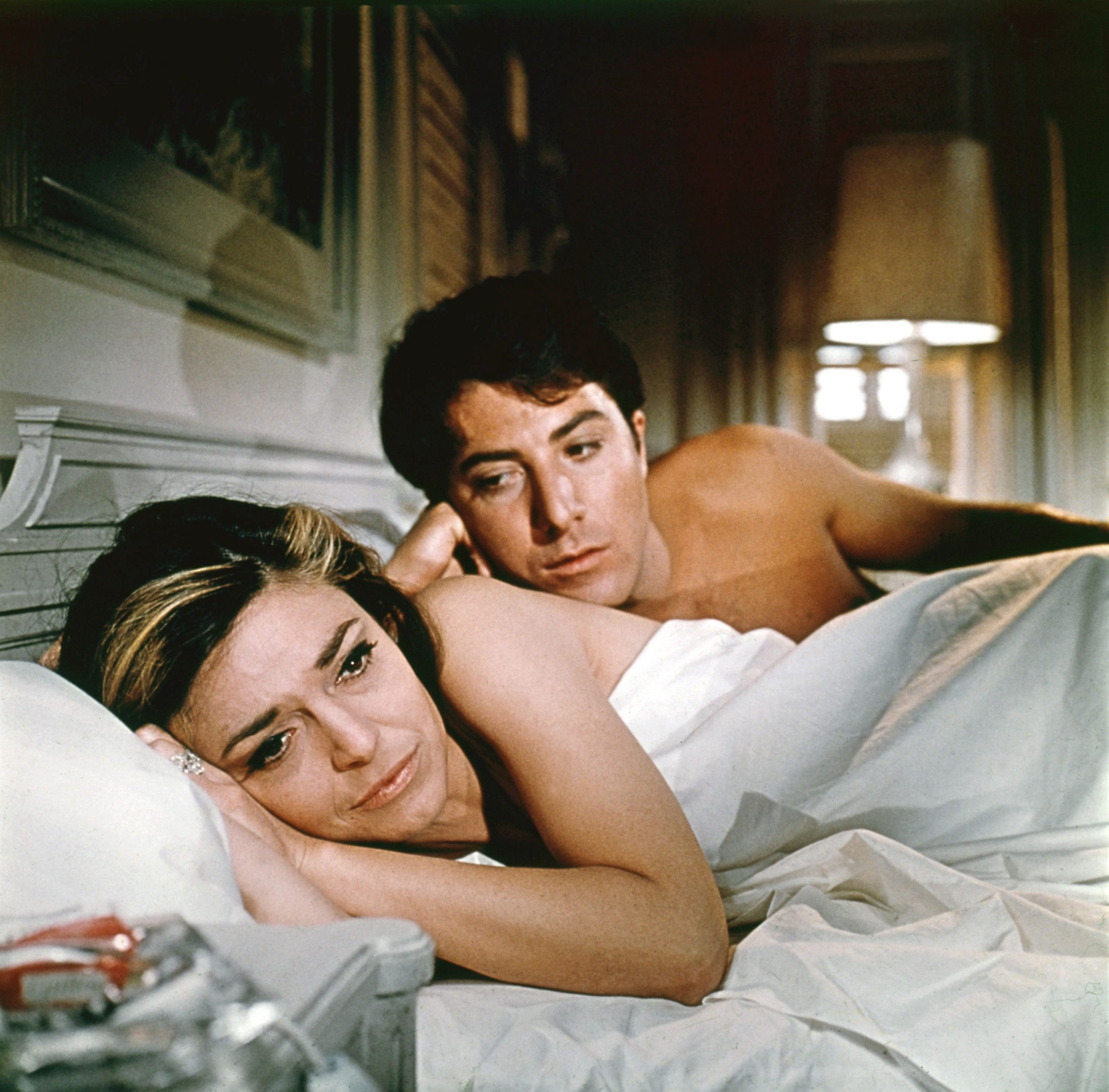 An image from the Graduate of Benjamin and Mrs Robinson in bed
