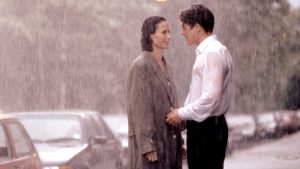 Carrie and Charles in the rain