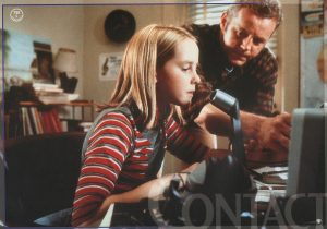 Image from Contact of young Ellie with her father using a ham radio