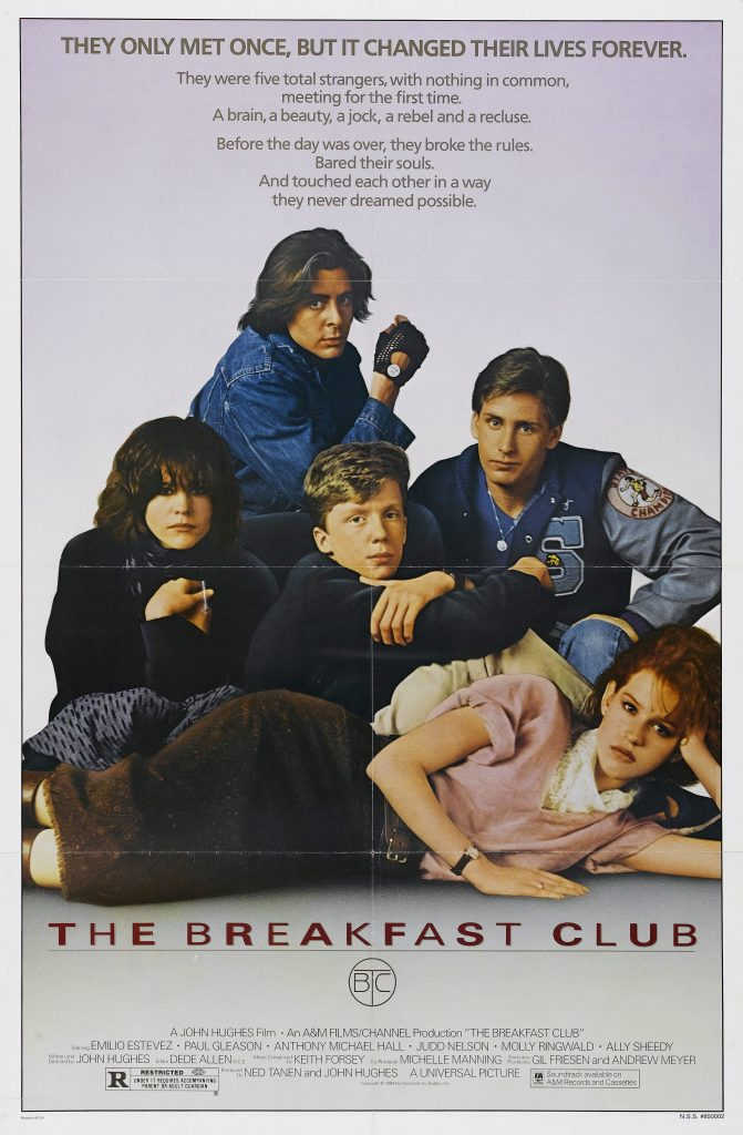 The poster from the Breakfast Club