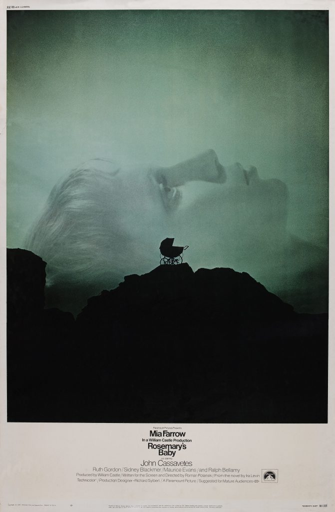 The excellent poster for Rosemary's baby