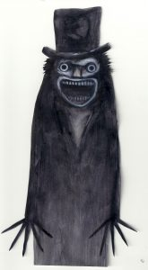 A drawing of The Babadook from the book in the movie