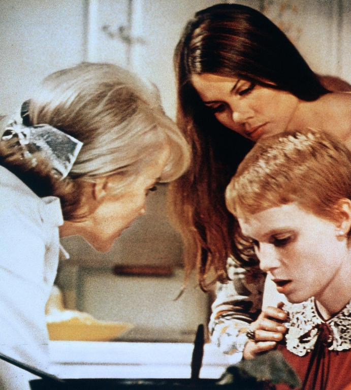 Image from Rosemary's Baby of Rosemary looking unwell